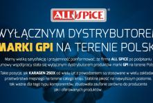 ALL SPICE wyłącznym dystrybutorem MARKI GPI na terenie Polski.